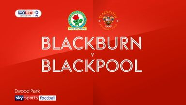 Blackburn 3-0 Blackpool