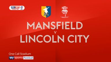 Mansfield 1-1 Lincoln City