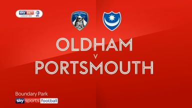 Oldham 0-2 Portsmouth