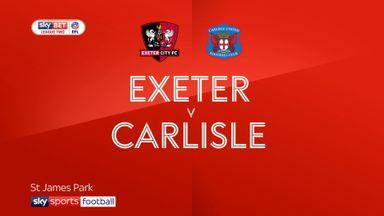 Exeter 1-1 Carlisle