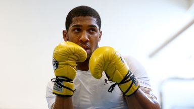 Anthony Joshua's public workout
