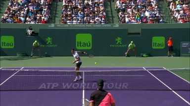 Fed's behind-the-back volley