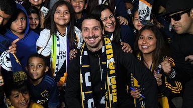 Zlatan receives hero's welcome in LA