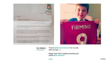 Alfie's Firmino shirt joy
