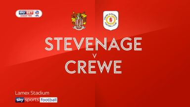 Stevenage 2-2 Crewe