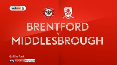 Brentford 1-1 Middlesbrough