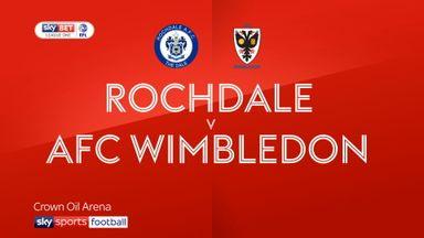 Rochdale 1-1 AFC Wimbledon