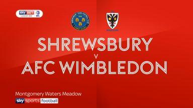 Shrewsbury 1-0 Wimbledon