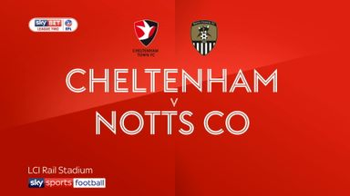 Cheltenham 1-1 Notts Co