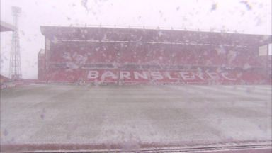 Snow descends on Oakwell
