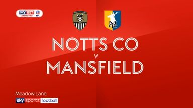 Notts County 1-1 Mansfield
