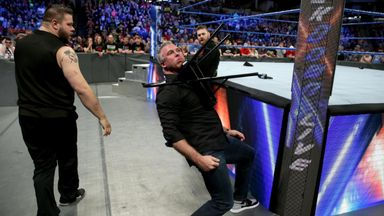 Owens & Zayn brutally attack McMahon