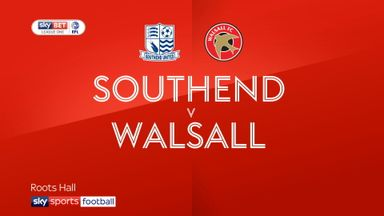 Southend 0-3 Walsall