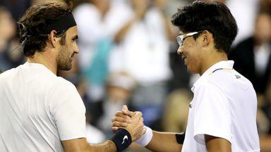 Federer v Chung: Highlights