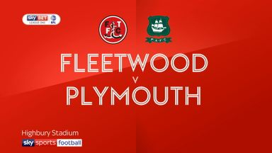 Fleetwood 1-1 Plymouth