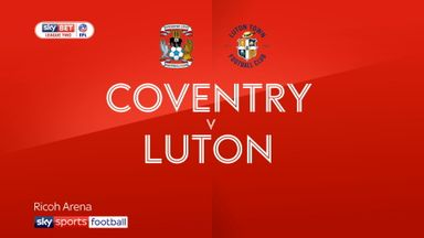 Coventry 2-2 Luton