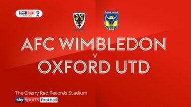 AFC Wimbledon 2-1 Oxford Utd