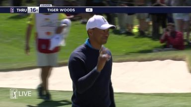 Tiger nails 70-foot putt