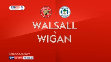 Walsall 0-3 Wigan