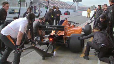 McLaren's pit stop tyre troubles