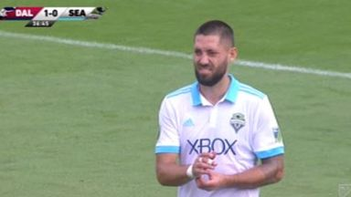 Dempsey sees red after VAR review