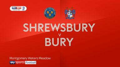 Shrewsbury 1-1 Bury