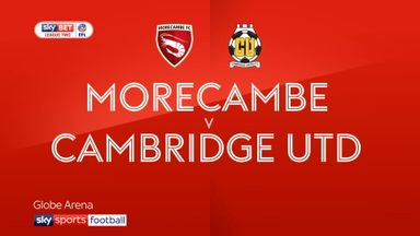 Morecambe 0-0 Cambridge