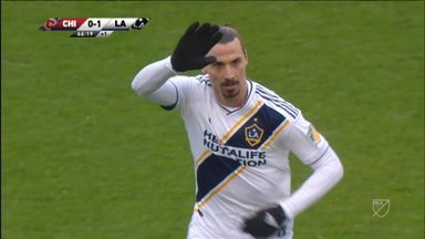 Zlatan nets on first Galaxy start