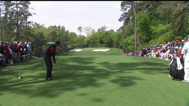 Tiger close to hole-in-one