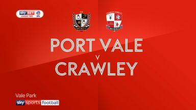 Port Vale 1-2 Crawley