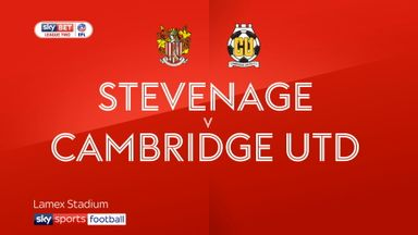 Stevenage 0-2 Cambridge
