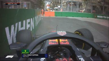 Verstappen crashes in Baku P1