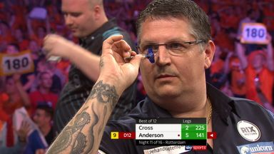 Ando's near nine-dart finish!