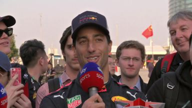Ricciardo delighted in China