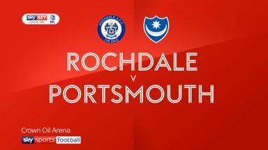 Rochdale 3-3 Portsmouth