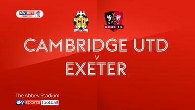 Cambridge United 2-3 Exeter