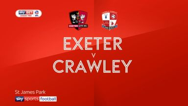 Exeter 2-2 Crawley