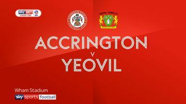 Accrington 2-0 Yeovil