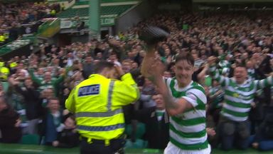 Lustig's police hat celebration!