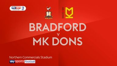 Bradford 2-0 MK Dons