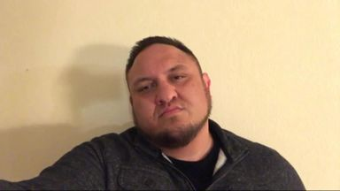 Samoa Joe waiting for Roman Reigns