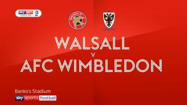 Walsall 2-3 AFC Wimbledon