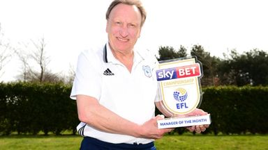 Warnock wins Manager of the Month
