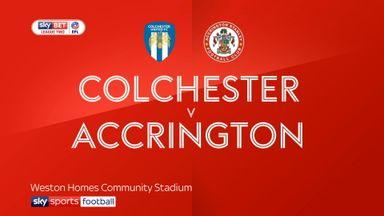 Colchester 0-1 Accrington