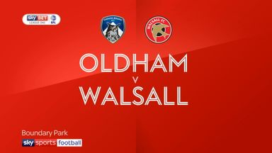 Oldham 1-1 Walsall