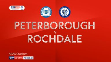 Peterborough 0-1 Rochdale