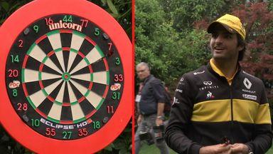Renault drivers play Sky F1 darts!