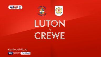 Luton 3-1 Crewe