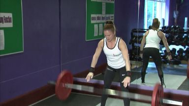 Mum swaps school lifts for power lifts