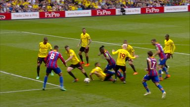 Zaha unfairly booked for diving?